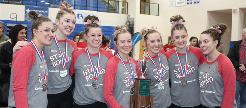 2019 State Runners Up Gymnasts