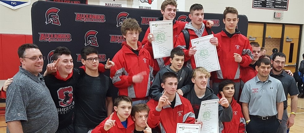 Wrestling Sectional Champs 2019