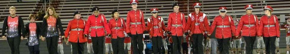 Senior Band Members begin final walk across field.